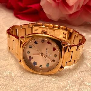 Marc Jacobs Mandy Charms 34mm Rose Gold Watch